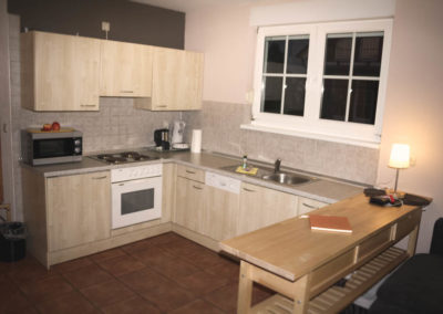 Die gut ausgestattete Küche